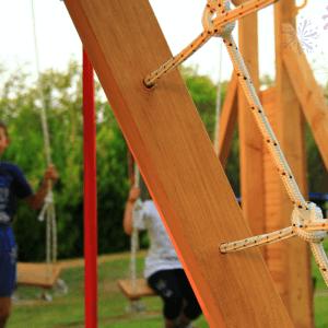igraonica za decu za dvoriste kucice od drveta montaza