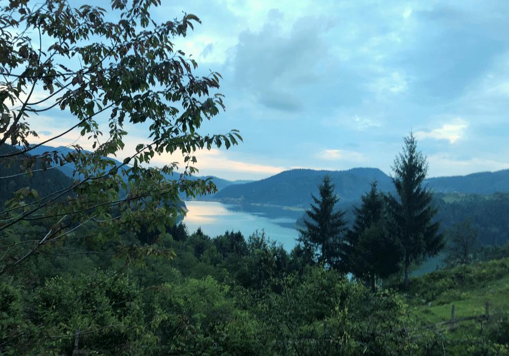 planina tara pejzaz zalazak sunca zaovinsko jezero